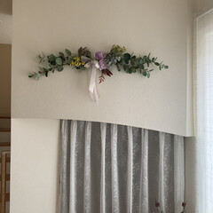 お家時間を楽しむ/スワッグ/DIY/ハンドメイド お家時間を楽しむ🎶  今日は玄関飾りに、…(2枚目)