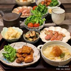 豚肉の甘唐揚げ/わたしのごはん/おうちごはん/夕飯 《2/16の夕飯》 ✴︎豚肉の甘唐揚げ …