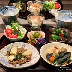 夕飯/夜ごはん/わたしのごはん/おうち居酒屋/おうち時間/おうちごはん/... 《5/26の夕飯》 ✴︎牛肉と野菜のステ…