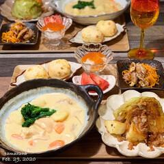 キャベツ料理/クリームシチュー/夕飯/わたしのごはん/おうちごはん 《2/29の夕飯》 ✴︎クリームシチュー…