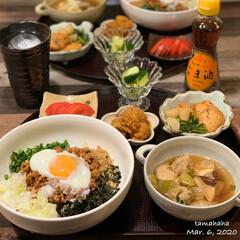 台湾まぜそば/夕飯/わたしのごはん/おうちごはん 《3/6の夕飯》 ✴︎台湾まぜそば ✴︎…