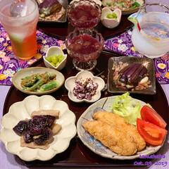 紫/おうちごはん/わたしのごはん/フォロー大歓迎 《今日の夕飯》 ✴︎茄子と豚肉の中華炒め…