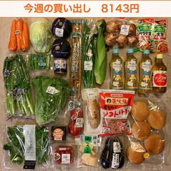 買い物/夕飯/おうちごはん/1週間1万円/冷凍保存/節約/... 《先週の買い出し》 3軒回って合計814…