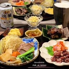 無水調理/ストウブ/わたしのごはん/おうちごはん/夕飯 《昨日の夕飯》 ✴︎豚肉と野菜の蒸し焼き…