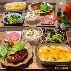 タバスコ/夕飯/おうちごはん/わたしのごはん ✳︎ 昨日の夕飯 ・ ✴︎アボカド🥑ハン…