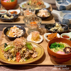 リメイク料理/お節リメイク/おせち料理/わたしのごはん/おうちごはん/お正月2020/...  《昨日の夕飯》 ✴︎日本蕎麦で焼きそば…