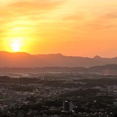 日の出/朝陽/地元/おでかけワンショット バリバリの地元での撮影 早朝から出発して…