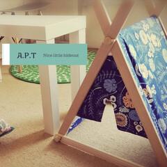 保護猫/猫ハウス/猫ベッド/猫グッズ/猫の家/猫のいる暮らし/... 木製の枠に輸入生地で作ったねこテントです…