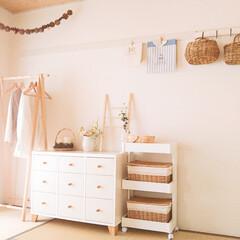 インテリア/和室/収納/暮らし/住まい/100均/... 和室ですが、掃除機をかけやすいように、床…