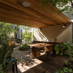 庭/家/マイホーム/家づくり/お庭/住宅/... 「中庭」 庭も家を構成する重要な要素の一…