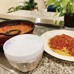 時短調理/みじん切り/キッチン雑貨/キッチン/ニトリ ニトリのブンブンチョッパー、ミートソース…