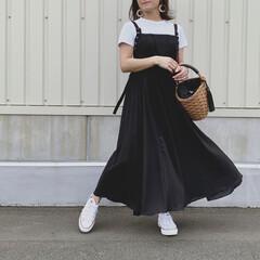 ママスタイル/ママファッション/ママ/プリーツワンピース/ワンピースコーデ/おちびファッション/... mim_ storeさんのプリーツコンビ…