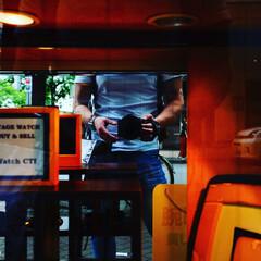 銀座/自撮り/スナップ/おでかけワンショット 銀座を散策中、ショーウィンドウの鏡を利用…