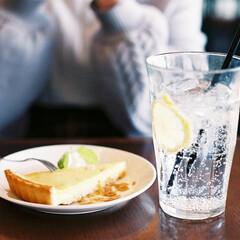 京都/カフェ/チーズケーキ/レモンスカッシュ/フィルム/フィルムカメラ/... 友達が食べてたチーズケーキ、美味しそう…🥺(1枚目)