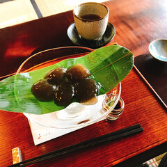 和菓子/甘味屋/わたしのごはん/おやつ 京都の下鴨神社近郊にある『茶寮 宝泉』の…