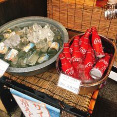 夏のお気に入り/コカ・コーラ/サイダー 暑い夏は 氷水で冷えた コーラーとサイダ…