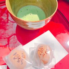 抹茶/お饅頭/わたしのごはん 可愛いまんじゅう♡