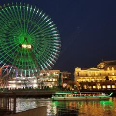 観覧車/横浜/夜/おでかけワンショット 夜景