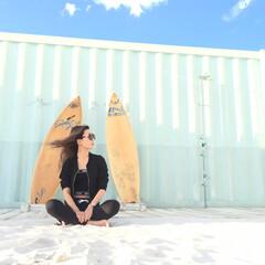 夏/BBQ/砂浜/風/サーフボード/サーフィン/... 夏の風 #はじめてフォト投稿