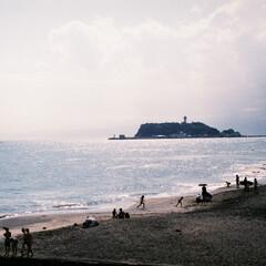 海/夏/江ノ島/天気/フィルム写真/おでかけワンショット 早めの夏!