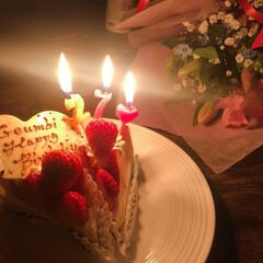 わたしのごはん/誕生日/外国人/日本/国際恋愛/ケーキ/... 日本での初誕生日のパティでしたー☺️💖 …