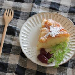 お菓子/スイーツ/sweets/おやつ/お菓子作り/りんご/... りんごケーキを作りました(*' ▽'*)