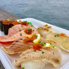 お寿司/市場/魚/贅沢/休日/わたしのごはん 贅沢な休日。  海に見守られながら大好き…