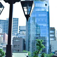 おでかけワンショット/街灯/東京 街灯の透明感になんだか心打たれました。