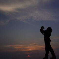 夕焼け/サンセット/淡路島/おでかけワンショット 夕焼けとコラボでお気に入りの一枚