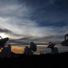 ハワイ/マウナケア/天体観測/夕暮れ/逆光/はじめてフォト投稿 天体観測(1枚目)