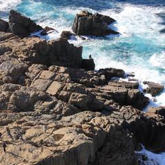 島根県/日御碕/日本海/波打/岩/海/... 島根県の日本海 日御碕展望台から 青空の…