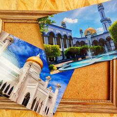 海外旅行/旅/旅行/モスク/建築/青/... 私のお気に入りの国ブルネイ まだまだマイ…