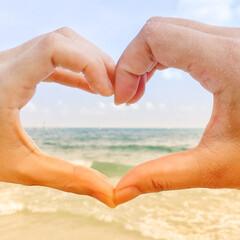海/ハート/かわいい/夏/きれいロマンチック/きれい/... 私のお気に入りのハート タイにて、女友達…