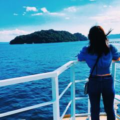 京都/旅行/遊覧船/海/伊根の舟屋/青/... 京都旅行✈️ 遊覧船で伊根の舟屋を見に行…