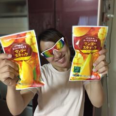 マンゴー/アイス/セブンイレブン/美味しい/冷凍マンゴー/至福のひととき 娘がずっと食べたがっていたマンゴースティ…