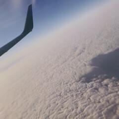 ブルー 雲の上から📸 雲しかない あたりまえか😛