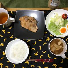 生姜焼き/初めてお料理/継続中/おいしい!/わたしのごはん 2月から同棲を始め、初めて作った晩御飯は…