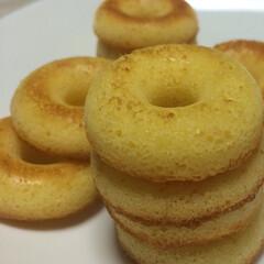わたしのごはん/手作り/焼きドーナツ/初挑戦/お菓子作り なんだか無性に焼きドーナツを作ってみたく…