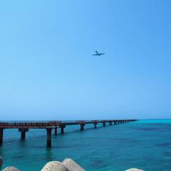 沖縄/飛行機/海/宮古島/はじめてフォト投稿 下地島空港(沖縄)17エンド 運が良けれ…