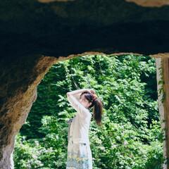 #初めてフォト投稿/はじめてフォト投稿 自然石のトンネルの先に、一体どんな景色が…(1枚目)