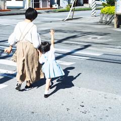 道/親子/お出かけ/散歩/キッズ/子供/... 渡りま〜す