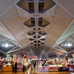 セントレア/中部国際空港/天井/広角/宇宙的/幾何学模様/... 中部国際空港セントレアでの一枚です。 大…