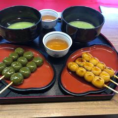 京都/はらぺこグルメ/抹茶/和菓子/団子/美味しい 京都でお抹茶