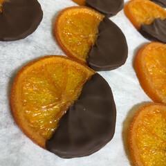 はらぺこグルメ/美味しい/オレンジ/手作り/フォロー大歓迎 オランジェットというものだそうです めち…