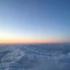 空/雲/風景/はじめてフォト投稿 空と雲のあいだ 綺麗だったのでなんとなく…