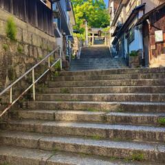令和/尾道/尾道旅行/広島/階段/神社/... 尾道旅行その2。本当に青が綺麗でした!人…(1枚目)