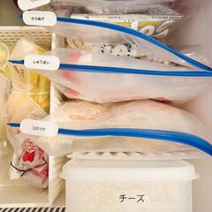 ジップロック ジップロック 業務用 フリーザーバッグ WジッパーM | ジップロック(その他調理用具)を使ったクチコミ「冷凍庫収納はスライダーバッグ派です。  …」