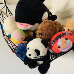 ルームモック/ぬいぐるみ収納/ハンモック収納/収納/空中収納/ミニハンモック 子どもたちのおうち時間の楽しみは、人形遊…