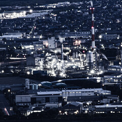 みんなにおすすめ/夜景/工場夜景 山口県の大平山から見える景色です。周南の…