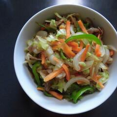 野菜炒め/わたしのごはん ヘルパーさんに作って貰った、野菜炒め。